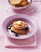 Muesli pancakes with blueberries
