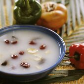 Rice porridge with Polygonum, ginseng and dates