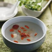 Frog soup with lotus seeds, hawthorn and wolfberries