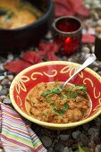 Lamb curry in open air
