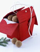 Chocolate truffles with gingerbread spice