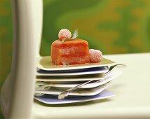 Fruit terrine with agar
