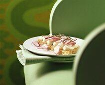 Honey and radish scone