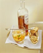 Southern Peach Julep and caraway pastries