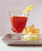 Bloody Mary and salmon profiterole
