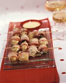 Bacon-wrapped oysters