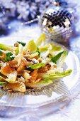 Fruity chicory salad