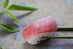 Nigiri sushi with 'toro' (tuna), Japan
