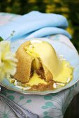 Sussex Pond Pudding with a lemon and butter sauce (England)