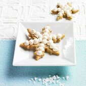Christmas shortbread biscuits with meringue
