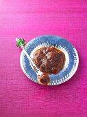 Tomato chutney on a plate