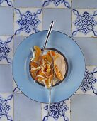 Guinea fowl breast with apricot and chicory salad