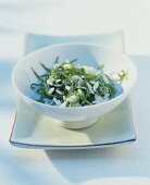 Wegerich-Reissalat