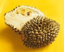 Halved durian