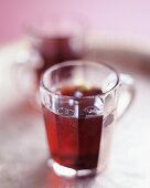 Two cups of Glögg (Scandinavian mulled wine)
