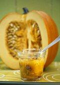 Pumpkin and physalis jam with pecans
