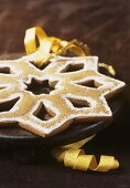 Gingerbread star with sugar for Christmas