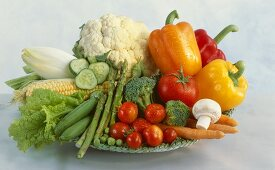 Plate of assorted vegetables