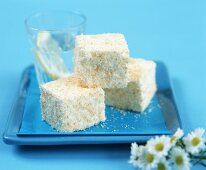 Lemon and coconut marshmallows