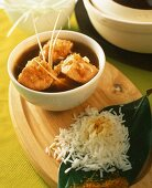 Salmon curry with lemongrass and rice