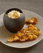 Almond caramel with vanilla cream