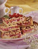 Redcurrant crumble cake