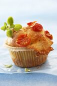 Mozzarella and tomato muffin