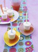 Lemon ice cream with passion fruit