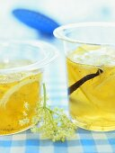 Elderflower and white wine jelly