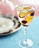 White wine sangria with fresh fruit