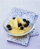 Apple compote with blueberries and star anise
