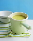 Cream of edamame soup