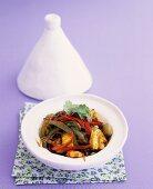 Seafood and vegetable tajine