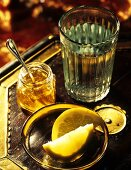 Warm water with honey and lemon (to aid digestion)