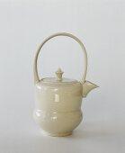 A white teapot