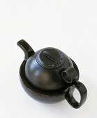 Black teapot with timer