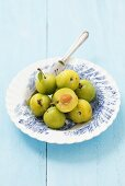 Ulena greengages on a plate