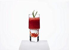 Strawberry gazpacho with yogurt