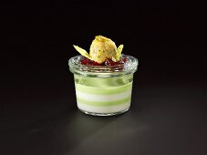Cauliflower parfait with beetroot and onion falafel