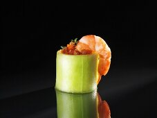 Gazpacho with prawns and thyme