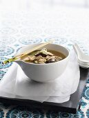 Asian-style chicken soup with noodles