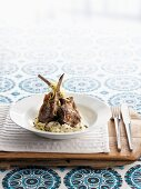 Lamb chops with lentils and mashed potato