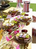 A festively laid Caribbean-style table