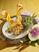 Caribbean-style snapper and pineapple kebab
