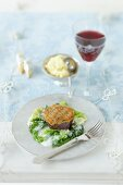 Beef fillet with a mustard crust and tarragon sauce