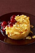 French toast with cherry compote
