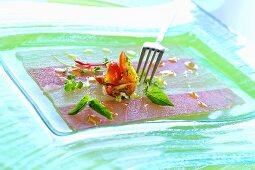 Tuna & swordfish carpaccio with cherry tomato salsa