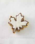 Iced maple leaf biscuit