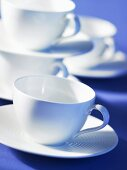 White porcelain cups