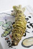 Unpeeled Japanese horseradish